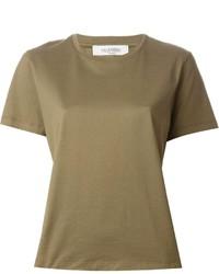 T-shirt à col rond olive Valentino