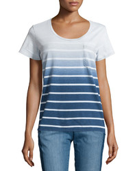 T-shirt à col rond ombre bleu