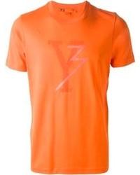 T-shirt à col rond orange