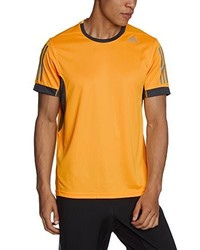 T-shirt à col rond orange adidas