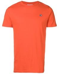 T-shirt à col rond orange Fila