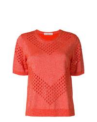 T-shirt à col rond orange Golden Goose Deluxe Brand