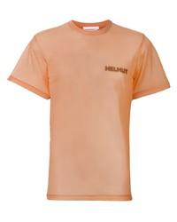 T-shirt à col rond orange Helmut Lang