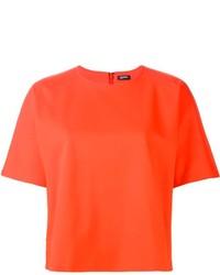 T-shirt à col rond orange Jil Sander
