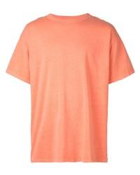 T-shirt à col rond orange John Elliott