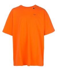 T-shirt à col rond orange Off-White