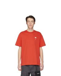 T-shirt à col rond orange Palm Angels