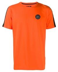 T-shirt à col rond orange Plein Sport