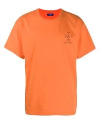 T-shirt à col rond orange Rassvet