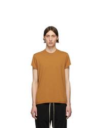 T-shirt à col rond orange Rick Owens DRKSHDW