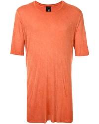 T-shirt à col rond orange Thom Krom