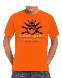 T-shirt à col rond orange Touchlines