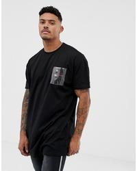 T-shirt à col rond orné noir Liquor N Poker