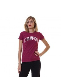 T-shirt à col rond pourpre foncé Champion