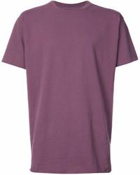 T-shirt à col rond pourpre
