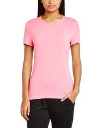 T-shirt à col rond rose adidas