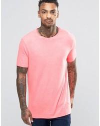 T-shirt à col rond rose Asos