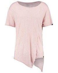 T-shirt à col rond rose Boom Bap