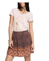 T-shirt à col rond rose Esprit