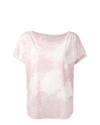 T-shirt à col rond rose Faith Connexion