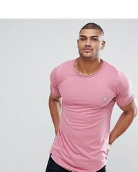 T-shirt à col rond rose Le Breve