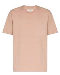 T-shirt à col rond rose Les Tien