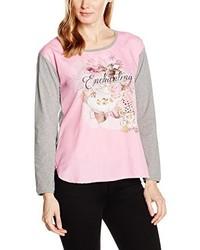 T-shirt à col rond rose ME&ME
