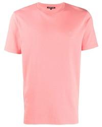 T-shirt à col rond rose Michael Kors