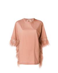 T-shirt à col rond rose N°21