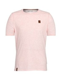 T-shirt à col rond rose Naketano
