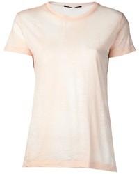 T-shirt à col rond rose Proenza Schouler