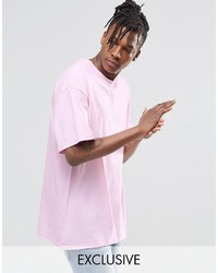 T-shirt à col rond rose Reclaimed Vintage