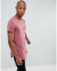 T-shirt à col rond rose Sixth June