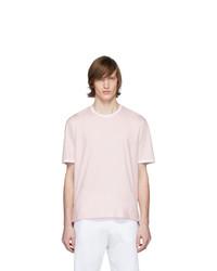 T-shirt à col rond rose Thom Browne