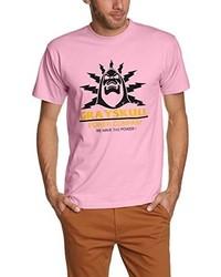 T-shirt à col rond rose Touchlines