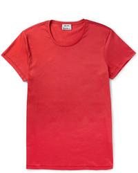 T-shirt à col rond rouge