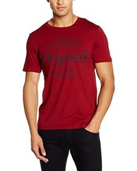 T-shirt à col rond rouge Jack & Jones
