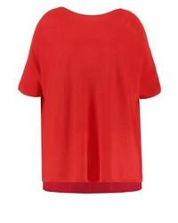 T-shirt à col rond rouge Lauren Ralph Lauren Woman