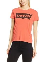 T-shirt à col rond rouge Levi's