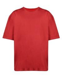 T-shirt à col rond rouge Maison Margiela