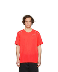 T-shirt à col rond rouge Nike