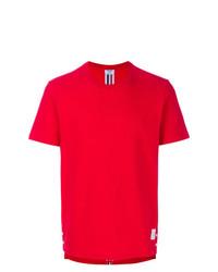 T-shirt à col rond rouge Thom Browne