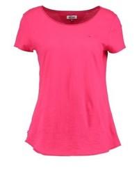 T-shirt à col rond rouge Tommy Hilfiger
