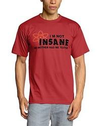 T-shirt à col rond rouge Touchlines