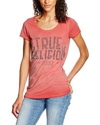 T-shirt à col rond rouge True Religion