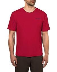 T-shirt à col rond rouge VAUDE