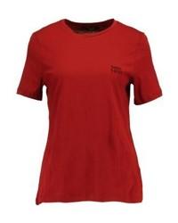 T-shirt à col rond rouge Vero Moda