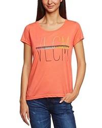 T-shirt à col rond rouge Volcom
