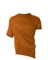 T-shirt à col rond tabac Lanvin