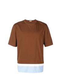 T-shirt à col rond tabac Marni